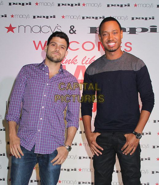LOS ANGELES, CA - June 5, 2014: Terrence Jenkins and Jerry Ferrera at Macy's at Beverly Center in partnership with Papi underwear hosts Terrence Jenkins and Jerry Ferrera from 'Think Like A Man Too' on June 5, 2014 at Macy's, Los Angeles. CA.   <br /> CAP/MPI/RTNMichele<br /> &copy;RTNMichele/MediaPunch/Capital Pictures