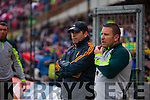 1Eamonn Fitzmaurice Kerry Manager and Cian O'Neill the Munster Final at Fitzgerald Stadium, Killarney on Saturday evening.