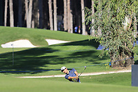 Jeunghun Wang (KOR) plays his 2nd shot on the 7th hole during Saturday's Round 3 of the 2018 Turkish Airlines Open hosted by Regnum Carya Golf &amp; Spa Resort, Antalya, Turkey. 3rd November 2018.<br /> Picture: Eoin Clarke | Golffile<br /> <br /> <br /> All photos usage must carry mandatory copyright credit (&copy; Golffile | Eoin Clarke)