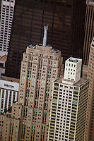 aerial photograph skyscrapers including Palmolive Building, John Hancock Center, Westin, Chicago, Illinois