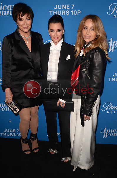 """Kris Jenner, Kyle Richards, Faye Resnick<br /> at the """"American Woman"""" Premiere Party, Chateau Marmont, Los Angeles, CA 05-31-18<br /> David Edwards/DailyCeleb.com 818-249-4998"""