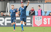 San Jose, CA - Saturday February 2, 2019: The men's national teams of the United States (USA) and Costa Rica (CR) play in an international friendly match at Avaya Stadium.