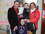 Declan, Vicky, Robin, Morgan and Ruby White pictured at the open day at Scoil Oilibhear Naofa. Photo: Colin Bell/pressphotos.ie