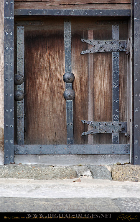 Himeji Castle Gate detail Side Door To-no-Yon Mon Outer Southeast Gate Shirasagi-jo White Heron Castle Himeji Japan