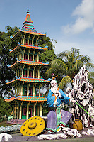Legendary Sage, Jiang Zi Ya at Haw Par Villa - a one-of-a-kind theme park in Singapore with over a thousand statues and a hundred dioramas depicting scenes from Chinese mythology,  Confucian stories, folklore and legends.  Originally called Tiger Balm Gardens, the park was built by the Burmese-Chinese brothers Aw Boon Haw and Aw Boon Par  who were the developers of Tiger Balm ointment. They created the park in 1937 for teaching the public traditional Chinese values. The most renowned attraction at Haw Par Villa is the Ten Courts of Hell featuring gruesome depictions of hell in  Buddhism and Chinese mythology.