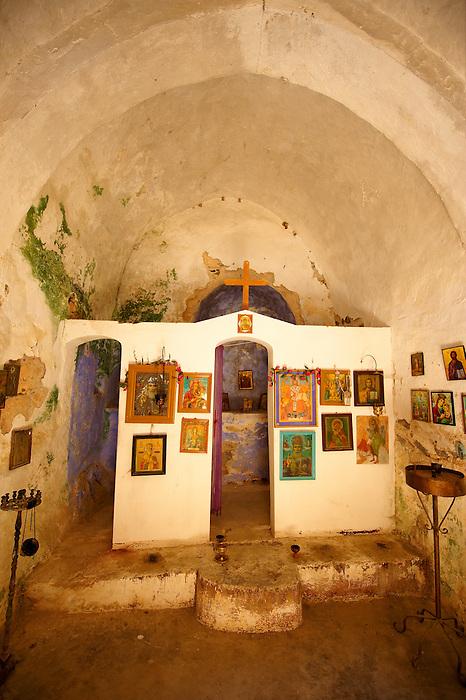 Interior of Saint Nikolaos Church, Paliachora,  Aegina, Greek Saronic Islands