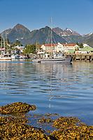 "Commercial fishing trolling vessel ""Cape Alava"" passes through the Sitka Channel, Sitka, Baranof island, southeast, Alaska."
