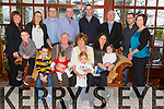 Eileen O'Connor from Causeway retiring from Clonmorris Credit Union after 17 years service having a celebration lunch with family at Ballygarry House Hotel on Sunday  Front l-r Darragh O'Conor, David Connolly, Noel O'Connor, Eileen O'Connor, Ashling O'Dwyer, Mary Connolly, Cillian Connolly, Elaine O'Connor, Baby Erin O'Connor.  Back l-r Jimmy O'Dwyer, Noel O'Connor, Paul Connolly, Kieran O'Connor, Aidan O'Connor, Edel O'Dwyer, Joanne O'Connor