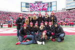 Wisconsin Badgers women's basketball team during an NCAA College Big Ten Conference football game against the Iowa Hawkeyes Saturday, November 11, 2017, in Madison, Wis. The Badgers won 38-14. (Photo by David Stluka)