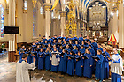 April 15, 2018; The Liturgical Choir sings at Sunday Vespers at the Basilica of the Sacred Heart. (Photo by Matt Cashore/University of Notre Dame)