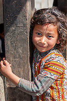 Bhaktapur, Nepal.  Little Girl.