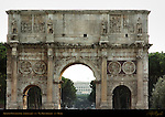 Arch of Constantine 315 AD North side Via Triumphalis Rome