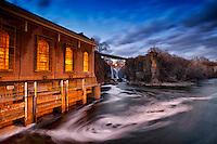 Great falls in Paterson, NJ, USA.