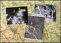 BNPS.co.uk (01202 558833)<br /> Pic: PhilYeomans/BNPS<br /> <br /> In black and white - In pictures, the map, bomb aimer using one and the actual raid. <br /> <br /> Secret rooms at a stately home where brilliant map-makers played a pivotal role in helping Britain to win the war have been opened to the public for the first time.<br /> <br /> Hughenden Manor, in Bucks, once home to the Victorian prime minster Benjamin Disraeli, was requisitioned by the Air Ministry in 1941 and given the codename 'Hillside'.<br /> <br /> In its confines, more than 3,500 hand drawn maps were produced for the RAF bombing campaigns, including the legendary Dambusters Raid and a raid on the Berchtesgaden, Hitler's famous mountain retreat.<br /> <br /> Previously hidden away under lock and key, these rooms have been opened for the first time for a permanent display featuring photographs, records and testimonies from some of the 100 men and women who were based there in World War Two.<br /> <br /> Since they were sworn to silence under the Official Secrets Act, Hillside's crucial wartime role in fact remained unknown until 2004, when a volunteer room guide overheard Victor Gregory, a visitor to the National Trust property, tell his grandson that he was stationed there during the war.