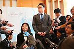 (L-R) Aki Taguchi, Yuki Ota, MARCH 4, 2013 : IOC Evaluation Commission visit at Harumi Triton, Tokyo, Japan. (Photo by AFLO SPORT)