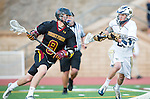 San Diego, CA 05/25/13 - Bennett Shafer (Torrey Pines #8) and Brent Melbye (La Costa Canyon #21) in action during the 2013 CIF San Diego Section Open DIvision Boys Lacrosse Championship game.  Torrey Pines defeated La Costa Canyon 7-5.