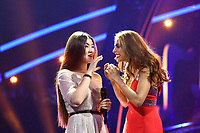 Polina Bogusevich, Catarina Furtado<br /> Eurovision Song Contest Grand Final dress rehearsal, Lisbon, Portugal on May 11 2018.<br /> CAP/PER<br /> &copy;PER/CapitalPictures