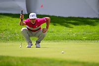 Thorbjorn Olesen (DEN) lines up his putt on 10 during Saturday's round 3 of the World Golf Championships - Bridgestone Invitational, at the Firestone Country Club, Akron, Ohio. 8/5/2017.<br /> Picture: Golffile | Ken Murray<br /> <br /> <br /> All photo usage must carry mandatory copyright credit (&copy; Golffile | Ken Murray)