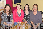 Jackie Healy, Kathy Cronin(organizer), tracey Hawkins and Kitty Healy getting ready for the table quiz held last Friday night in The Sportsfield Bar, Brosna in aid of Brosna Hall Committee.