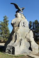 Przewalski-Denkmal bei Karakul, Kirgistan, Asien<br /> Przewalski Monument near Karakol, Kirgistan, Asia