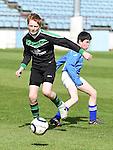 Albion Rovers Carl Martin Dromin Utd Adam McMahon. Photo:Colin Bell/pressphotos.ie