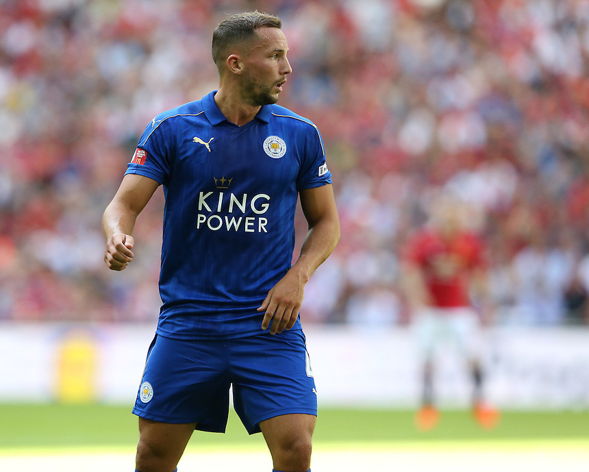 Leicester City's Daniel Drinkwater<br /> <br /> Photographer Stephen White/CameraSport<br /> <br /> Football - The FA Community Shield - Leicester City v Manchester United - Sunday 7 August 2016 - Wembley Stadium - London<br /> <br /> World Copyright &copy; 2016 CameraSport. All rights reserved. 43 Linden Ave. Countesthorpe. Leicester. England. LE8 5PG - Tel: +44 (0) 116 277 4147 - admin@camerasport.com - www.camerasport.com