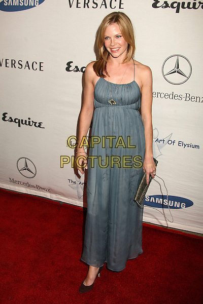 "SARAH JANE MORRIS.Esquire Magazine Unveils the 'Esquire House 360' with an Opening Night Celebration to Benefit ""The Art of Elysium"", Beverly Hills, California, USA..October 19th, 2006.Ref: ADM/BP.full length blue dress.www.capitalpictures.com.sales@capitalpictures.com.©Byron Purvis/AdMedia/Capital Pictures."
