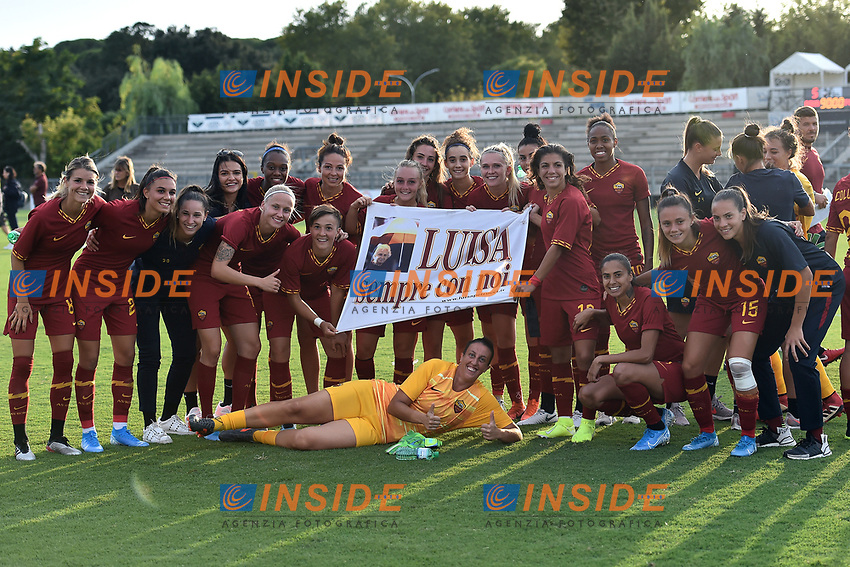 AS Roma players pose for a photo at the end of the match <br /> Roma 8/9/2019 Stadio Tre Fontane <br /> Luisa Petrucci Trophy 2019<br /> AS Roma - Paris Saint Germain<br /> Photo Andrea Staccioli / Insidefoto