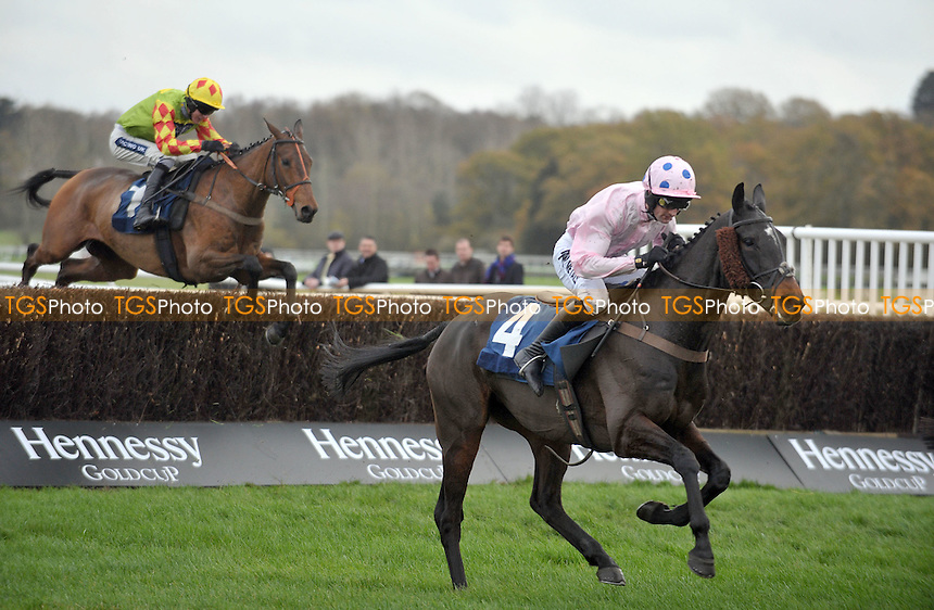 Very Stylish ridden by Dougie Costello take the last fence in the Sportingbet Novices´ Handicap Chase (for the Fulke Walwyn Trophy)  at Newbury Racecourse, Berkshire - 26/11/2011 - MANDATORY CREDIT: Martin Dalton/TGSPHOTO - Self billing applies where appropriate - 0845 094 6026 - contact@tgsphoto.co.uk - NO UNPAID USE.