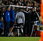 Nigel Adkins manager of Sheffield Utd replaces Matt Done of Sheffield Utd - English League One - Scunthorpe Utd vs Sheffield Utd - Glandford Park Stadium - Scunthorpe - England - 19th December 2015 - Pic Simon Bellis/Sportimage