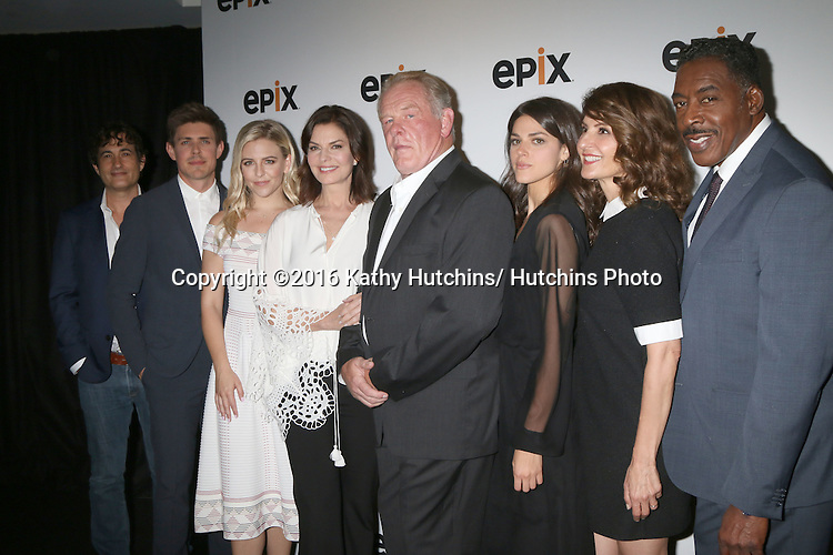 LOS ANGELES - JUL 30:  Joshua Michael Stern, Chris Lowell, Helene Yorke, Sela Ward, Nick Nolte, Calle Hernandez, Nia Vardalos, Ernie Hudson at the EPIX Television Critics Association Tour Photo Line at the Beverly Hilton Hotel on July 30, 2016 in Beverly Hills, CA