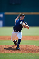 Justin Szestowicki (7) of Kingsway High School in Mount Royal, NJ during the Perfect Game National Showcase at Hoover Metropolitan Stadium on June 20, 2020 in Hoover, Alabama. (Mike Janes/Four Seam Images)