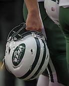 04.10.2015. Wembley Stadium, London, England. NFL International Series. Miami Dolphins versus New York Jets.  Jets helmet detail.