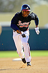 5 March 2007: Atlanta Braves infielder Willie Harris in action against the Washington Nationals at Disney's Wide World of Sports in Orlando, Florida. The Braves are celebrating 10 years of Spring Training at the Disney facility.<br /> <br /> Mandatory Photo Credit: Ed Wolfstein Photo