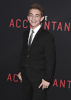 """HOLLYWOOD, CA - OCTOBER 10:  Jake Presley at the Los Angeles world premiere of """"The Accountant"""" at TCL Chinese Theater on October 10, 2016 in Hollywood, California. Credit: mpi991/MediaPunch"""