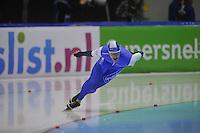 SCHAATSEN: HEERENVEEN: 29-12-2013, IJsstadion Thialf, KNSB Kwalificatie Toernooi (KKT), 1000m, Aron Romeijn, ©foto Martin de Jong