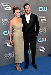 SANTA MONICA, CA - JANUARY 11: Actress Elizabeth Chambers (L) and actor Armie Hammer attend The 23rd Annual Critics' Choice Awards at Barker Hangar on January 11, 2018 in Santa Monica, California.