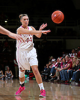 STANFORD, CA - February 10, 2013: Stanford Cardinal's Joslyn Tinkle during Stanford's game against Arizona State at Maples Pavilion in Stanford, California.  The Cardinal defeated the Sun Devils 69-45.