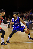 Saints'  Corey Webster in action during the NBL - Wellington Saints v Canterbury Rams   at TSB Bank Arena, Wellington, New Zealand on Saturday 8 April 2017.<br /> Photo by Masanori Udagawa<br /> www.photowellington.photoshelter.com.