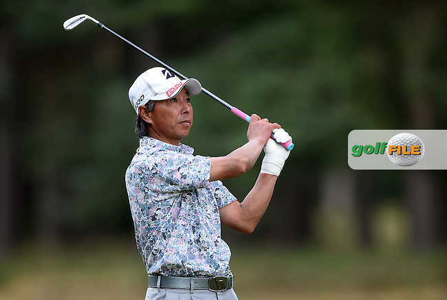 Kohki Idoki of Japan in action during the First Round of The Senior Open at Sunningdale Golf Club, Sunningdale, England. Picture: Golffile | Richard Martin-Roberts<br /> All photo usage must carry mandatory copyright credit (&copy; Golffile | Richard Martin- Roberts)
