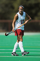 Stanford, CA - SEPTEMBER 13:  Forward Stephanie Byrne #10 of the Stanford Cardinal during Stanford's 3-2 loss against the Iowa Hawkeyes on September 13, 2008 at the Varsity Field Hockey Turf in Stanford, California.
