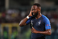 Moussa Dembele of France celebrates after scoring a goal<br /> Serravalle 21-06-2019 Stadio San Marino Stadium <br /> Football UEFA Under 21 Championship Italy 2019<br /> Group Stage - Final Tournament Group C<br /> France - Croatia<br /> Photo Cesare Purini / Insidefoto