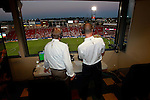 FRISCO, TX - JUNE 25: Bobby Rhine and Steve Jolly at Pizza Hut Park on June 25, 2011 in Frisco, Texas. (Photo by Rick Yeatts)