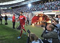 Michael Ballack betritt das Stadion beim Abschiedsspiel von Michael Ballack in der Red-Bull-Arena Leipzig. Unter dem Motto &quot;Ciao Capitano&quot; bestreitet der Ex-Fussballprofi sein letztes gro&szlig;es Spiel mit Freunden in Leipzig gegen eine Auswahl von Wegbegleitern. <br /> Foto: Christian Nitsche