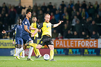 3rd December 2019; Pirelli Stadium, Burton Upon Trent, Staffordshire, England; English League One Football, Burton Albion versus Southend United; Liam Boyce of Burton Albion takes a shot at goal but is ruled offside - Strictly Editorial Use Only. No use with unauthorized audio, video, data, fixture lists, club/league logos or 'live' services. Online in-match use limited to 120 images, no video emulation. No use in betting, games or single club/league/player publications