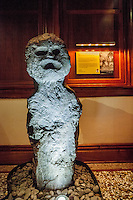 Hawaiian carved stone deity Kaneikokala, Bishop Museum, Honolulu