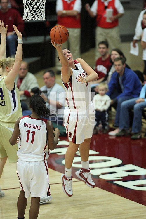 30 December 2007: Jayne Appel during Stanford's 77-42 win over the University of Washington at Maples Pavilion in Stanford, CA.