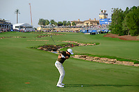 Rory McIlroy (NIR) on the 18th fairway during the 2nd round of the DP World Tour Championship, Jumeirah Golf Estates, Dubai, United Arab Emirates. 16/11/2018<br /> Picture: Golffile | Fran Caffrey<br /> <br /> <br /> All photo usage must carry mandatory copyright credit (© Golffile | Fran Caffrey)