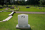 Though there is controversy surrounding her remains, a marker for Addie Mae Collins stands in Greenwood Cemetery in Birmingham, Alabama. Addie Mae Collins was one of four girls killed in a bombing at 16th Street Baptist Church September 15, 1963.