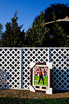 A photograph of Tiger Woods for sale along Berckmans Road just half a block from an entrance to The Masters Golf Tournament on its first practice day at The Augusta National Golf Club in Augusta, Georgia April 15, 2010.